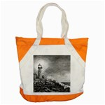 Frank Clark Lighthouse -AveHurley ArtRevu.com- Accent Tote Bag