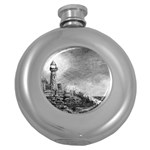 Frank Clark Lighthouse -AveHurley ArtRevu.com- Hip Flask (5 oz)