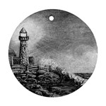 Frank Clark Lighthouse -AveHurley ArtRevu.com- Round Ornament (Two Sides)
