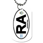 RA - Argentina Euro Oval Dog Tag (One Side)