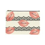 Kisses Cosmetic Bag (Large) Front