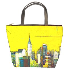 New York City With Yellow Bucket Bags by BIBILOVER