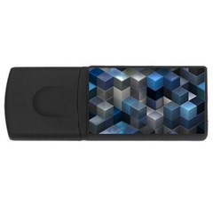 Artistic Cubes 9 Blue Usb Flash Drive Rectangular (4 Gb)  by MoreColorsinLife