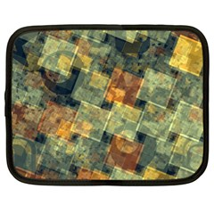 Stars Circles And Squares Netbook Case (xl) by LalyLauraFLM