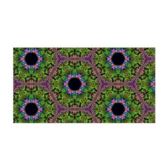 Repeated Geometric Circle Kaleidoscope Satin Wrap by canvasngiftshop