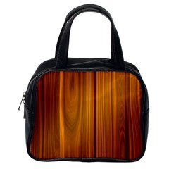 Shiny Striated Panel Classic Handbags (one Side) by trendistuff
