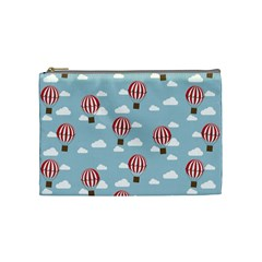Hot Air Balloon Cosmetic Bag (medium)  by Kathrinlegg