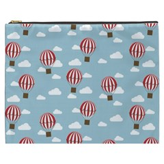 Hot Air Balloon Cosmetic Bag (xxxl)  by Kathrinlegg
