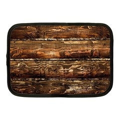 Dark Stained Wood Wall Netbook Case (medium)  by trendistuff