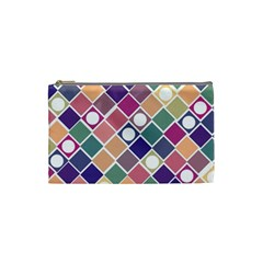 Dots And Squares Cosmetic Bag (small)  by Kathrinlegg