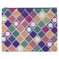 Dots And Squares Cosmetic Bag (xxxl)  by Kathrinlegg