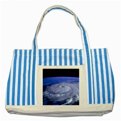 Hurricane Elena Striped Blue Tote Bag  by trendistuff