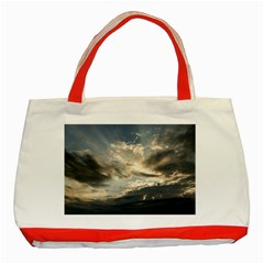 Heaven Rays Classic Tote Bag (red)  by trendistuff