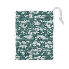 Camo Digital Urban Drawstring Pouches (large)  by trendistuff
