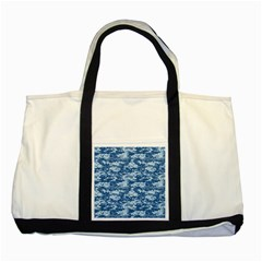 Camo Digital Navy Two Tone Tote Bag  by trendistuff