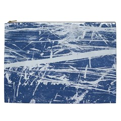Blue And White Art Cosmetic Bag (xxl)  by trendistuff