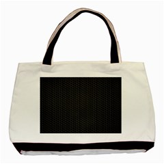 Black Honeycomb Basic Tote Bag (two Sides)  by trendistuff
