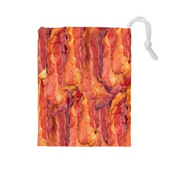 Bacon Drawstring Pouches (large)  by trendistuff
