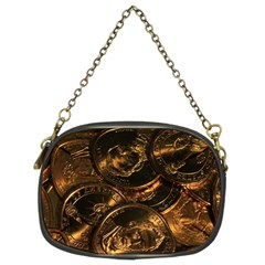 Gold Coins 2 Chain Purses (two Sides)  by trendistuff