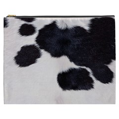 Spotted Cow Hide Cosmetic Bag (xxxl)  by trendistuff
