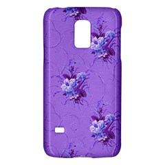 Purple Roses Pattern Galaxy S5 Mini by LovelyDesigns4U