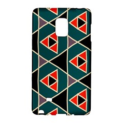Triangles In Retro Colors Patternsamsung Galaxy Note Edge Hardshell Case by LalyLauraFLM