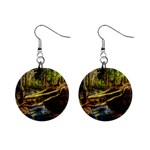 Surreal Forest Stream Dead Trees 1  Button Earrings