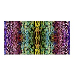 Abstract, Yellow Green, Purple, Tree Trunk Satin Wrap by Costasonlineshop