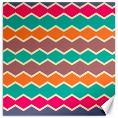 Colorful Chevrons Patterncanvas 20  X 20  by LalyLauraFLM