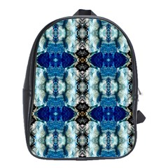 Royal Blue Abstract Pattern School Bags (xl)  by Costasonlineshop