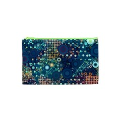 Blue Bubbles Cosmetic Bag (xs) by KirstenStar