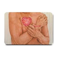 Embrace Love  Small Doormat  by KentChua