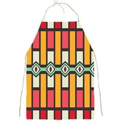 Rhombus And Stripes Pattern full Print Apron by LalyLauraFLM