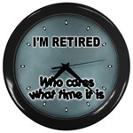 RETIREMENT Retired Over The Hill Gag Wall Clock