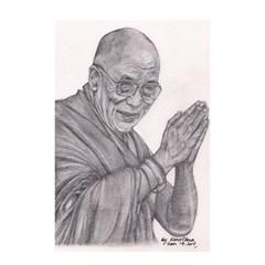 Dalai Lama Tenzin Gaytso Pencil Drawing Shower Curtain 48  X 72  (small)  by KentChua
