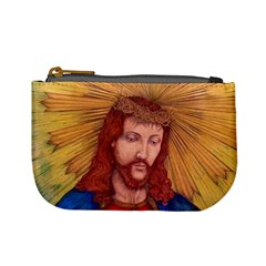 Sacred Heart Of Jesus Christ Drawing Mini Coin Purses by KentChua