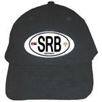SRB - Serbia Euro Oval Black Cap