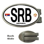 SRB - Serbia Euro Oval Money Clip (Oval)