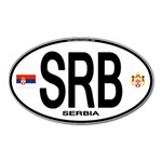 SRB - Serbia Euro Oval Magnet (Oval)
