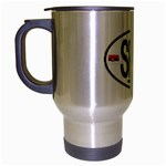 SRB - Serbia Euro Oval Travel Mug (Silver Gray)
