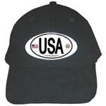 USA Euro Oval Black Cap