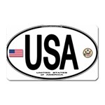 USA Euro Oval Magnet (Rectangular)