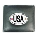 USA Euro Oval Wallet