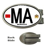 MA - Morocco Euro Oval Sticker Money Clip (Oval)