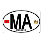 MA - Morocco Euro Oval Sticker Magnet (Rectangular)