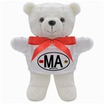 MA - Morocco Euro Oval Sticker Teddy Bear