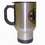 MA - Morocco Euro Oval Sticker Travel Mug (Silver Gray)
