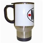 MA - Morocco Euro Oval Sticker Travel Mug (White)