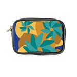 Urban Garden Abstract Flowers Blue Teal Carrot Orange Brown Coin Purse