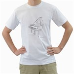 Grand Piano Men s T-Shirt (White)